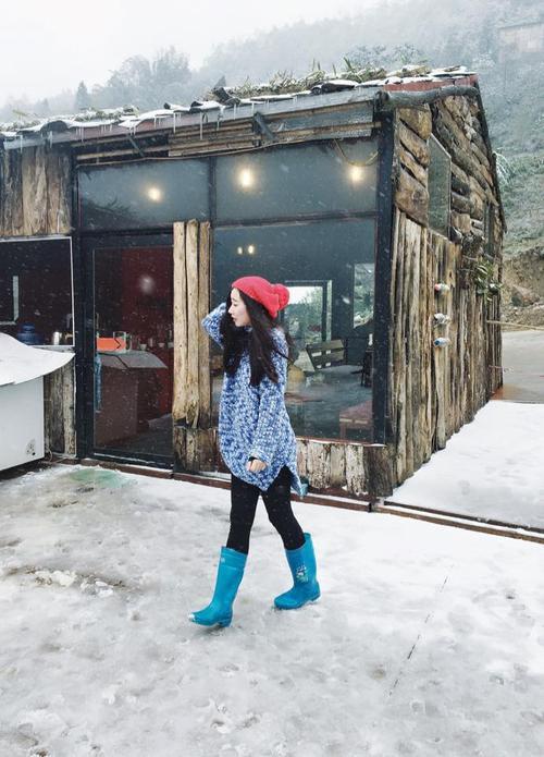 Diện đồ đẹp check-in với tuyết nào! Ảnh: Dang Thuy Duong