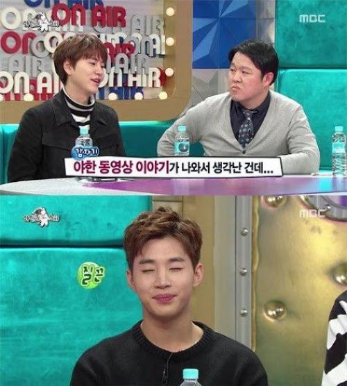"""Kyuhyun kể lại câu chuyện Henry mang máy tính vào nhà tắm để xem phim """"nóng""""."""