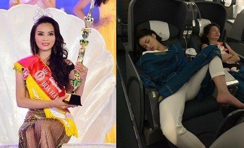 Hoa hậu Kỳ Duyên gây bão dư luận với dáng ngủ kém duyên.