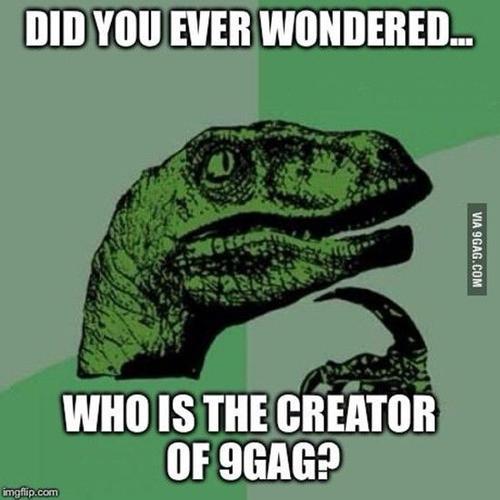 Chú khủng long xanh - một trong những nhân vật ra đời từ 9GAG. Ảnh: 9GAG