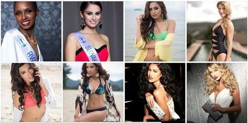 Những người đẹp tiêu biểu trong Top do Globalbeauties công bố.