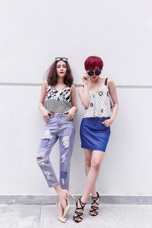 Nếu như Bảo Trang luôn chọn cho mình những item an toàn và nữ tính thì Bảo Trâm luôn là kẻ lách luật với những outfit và gam màu khá lạ mắt.