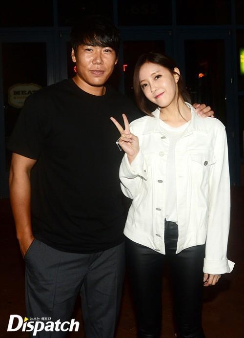 Hyomin - thành viên nhóm T-ara vừa bị đưa tin hẹn hò ngôi sao bóng chày Kang Jung Ho.