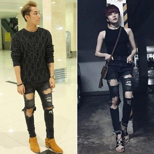 Các fan không ít lần phát hiện ra hai ca sĩ thường xuyên mặc đồ đôi.