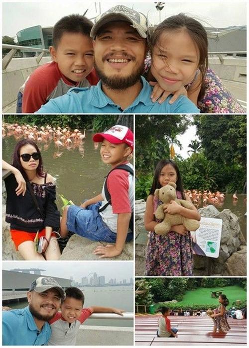 Hình ảnh Trần Lập bên gia đình.