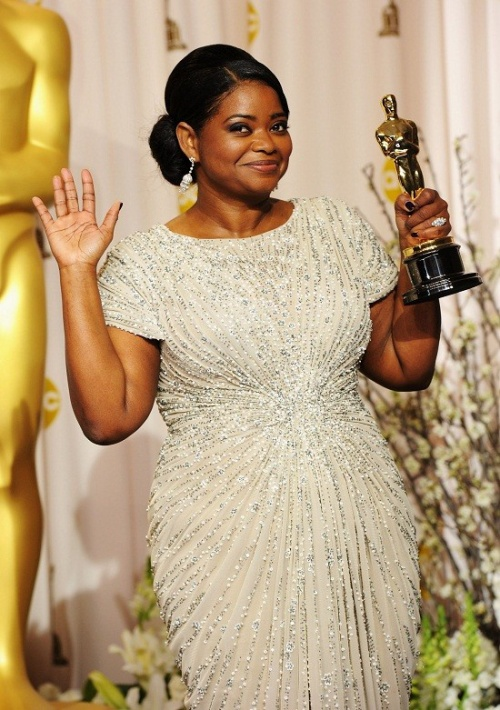 HOLLYWOOD, CA - FEBRUARY 26: Actress Octavia Spencer, winner of the Best Supporting Actress Award for 'The Help,' poses in the press room at the 84th Annual Academy Awards held at the Hollywood & Highland Center on February 26, 2012 in Hollywood, California. (Photo by Jason Merritt/Getty Images)