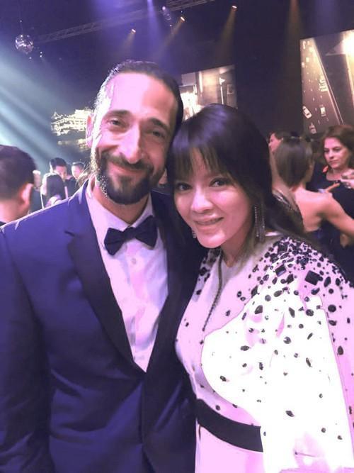 Ngoài Michelle Rodriguez, Lý Nhã Kỳ còn gặp diễn viên Adrien Brody. Anh từng giành giải Oscar cho vai diễn chính trong phim 'Nghệ sĩ dương cầm'.