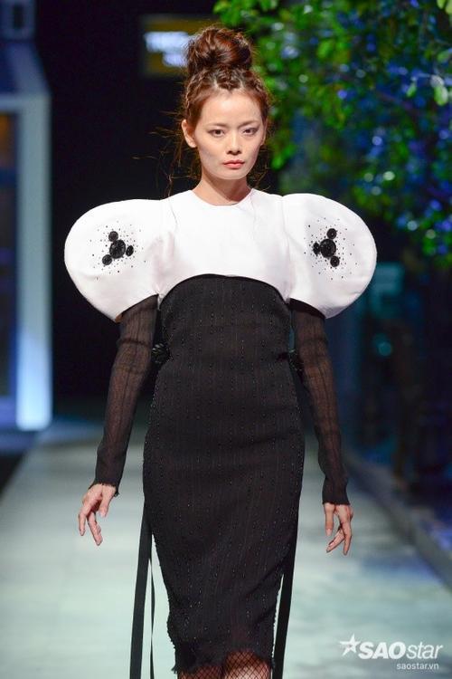 Với mái tóc được thắt bím một cách tỉ mỉ làm nổi bật gương mặt các người mẫu như Hoàng Oanh.