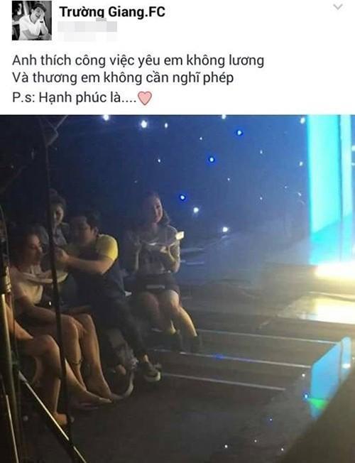Các fan có dịp bấn loạn trước hình ảnh Trường Giang đang đút thức ăn cho bạn gái Nhã Phương.
