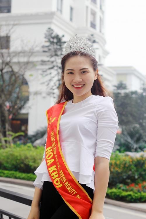 Phương Anh sở hữu gương mặt thuần Việt và nụ cười rạng rỡ. Ảnh: Cường Ngô