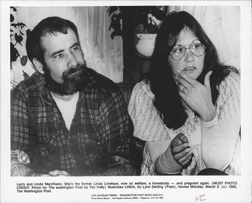 Linda Lovelace và người chồng thứ hai Larry Marchiano.
