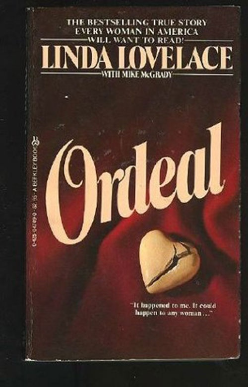 """Trên bìa cuốn hồi kí Ordeal có viết: """"Những điều đó đã xảy ra với tôi. Nó cũng có thể xảy ra với bất kì người phụ nữ nào""""."""