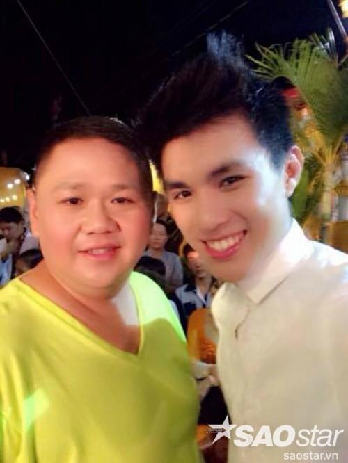 Minh Béo và hot boy - ca sĩ Liêng Kiến Quang trong lần đi diễn chung tại Bến Tre.