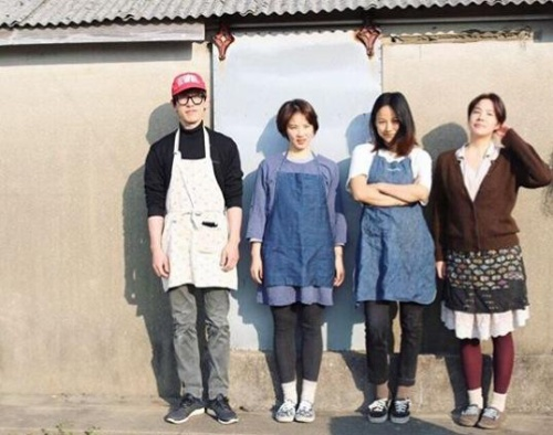 Lee Hyori cùng những người bạn thân thiết của mình tại vùng đảo Jeju.