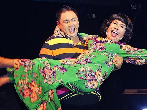 Long Nhật và Minh Béo từng dũng chung trên sân khấu.