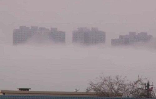 """""""Thành phố bay"""" một lần nữa hiện lên trên bầu trời tỉnh Liêu Ninh, Trung Quốc."""