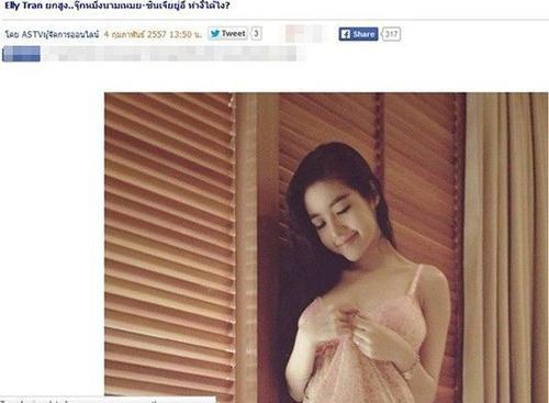 Tháng 2/2014, trang Manager của Thái Lan đã chia sẻ những hình ảnh nóng bỏng của Elly Trần.