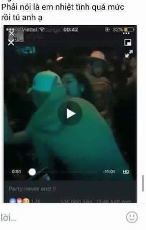 Xem trực tiếp hình ảnh Seungri trong quán bar, fan cảm thấy tức tối vì Tú Anh liên tục níu cổ chàng ca sĩ.