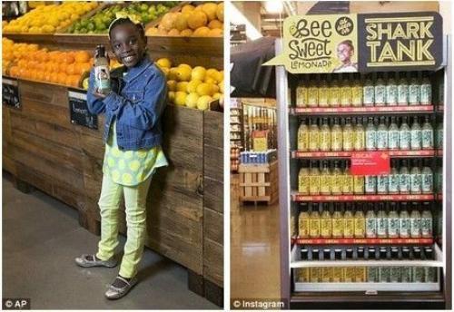 """Mikaila Ulmer và thương hiệu nước chanh BeeSweet do cô bé tự pha chế với công thức """"gia truyền""""."""