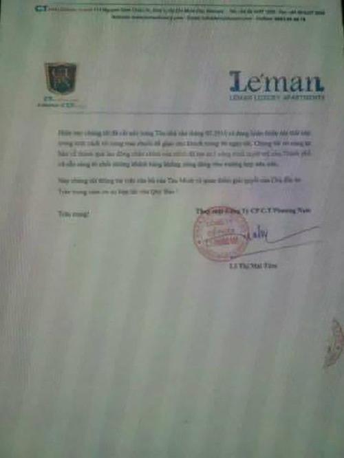 Hợp đồng mua bán nhà của Thu Minh và công ty.