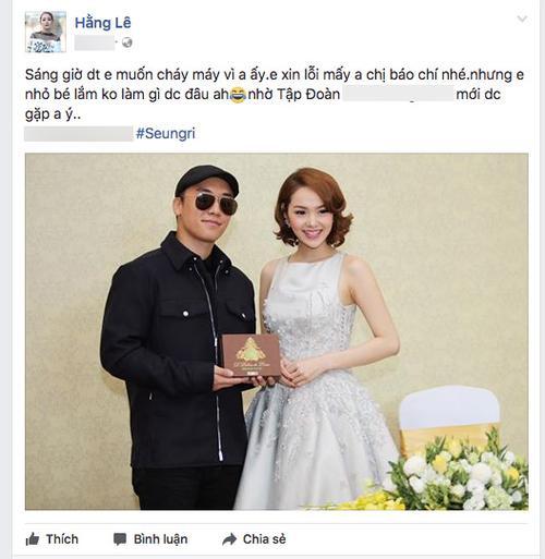 Đại diện trao nhà triệu đô cho Seungri, Minh Hằng bị gọi điện thoại 'cháy máy' - ảnh 1