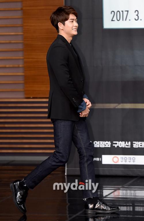 Kang Tae Oh trong buổi họp báo ra mắt dự án phim truyền hình You are too much mới đây.