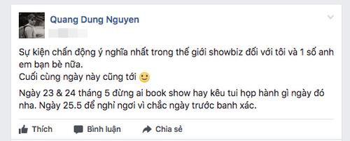 Đạo diễn Nguyễn Quang Dũng úp mở về sự kiện chấn động làng giải trí Việt.