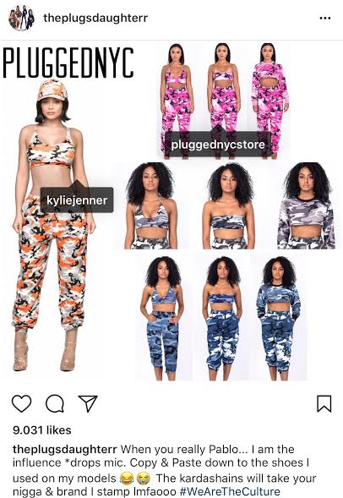 Tuy cháy hàng, BST mới của Kylie Jenner lại dính nghi vấn sao chép thiết kế Camo của thương hiệu khác