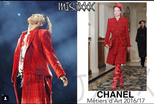 Mặc trang phục nữ của Chanel nhưng G-Dragon vẫn nam tính bất ngờ trong đêm diễn concert