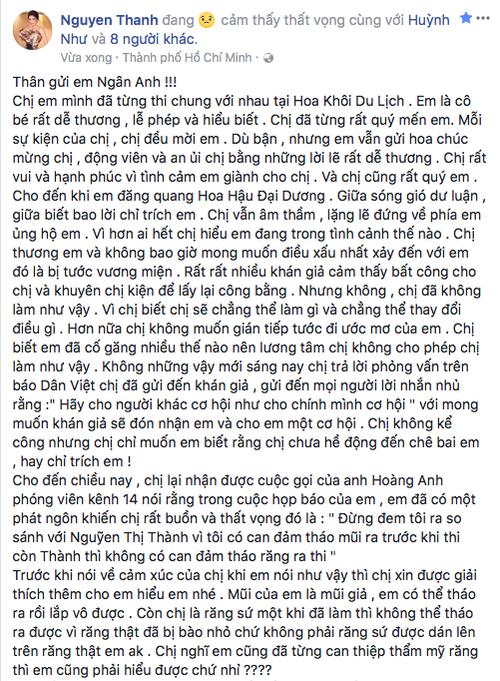 Nguyễn Thị Thành lên tiếng đáp trả Ngân Anh: 'Em vẫn chỉ là một đứa con nít!' - ảnh 1
