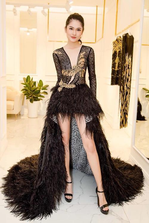 Ngọc Châu đẳng cấp, Huyền My lộ mỡ thừa, Thuỳ Dung lép vế khi mặc chung thiết kế
