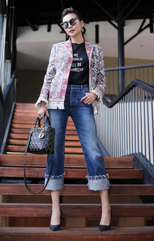 Không chỉ thần tượng, Đồng Ánh Quỳnh còn là bản sao phong cách menswear của Thanh Hằng - ảnh 4