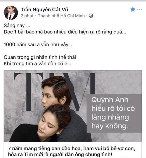 Mặc scandal, Tim lại gửi lời nhắn nhủ yêu thương đến Trương Quỳnh Anh - ảnh 4