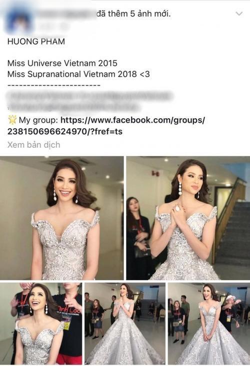 Thực hư chuyện Phạm Hương thay thế Lê Âu Ngân Anh đi thi Hoa hậu Siêu quốc gia 2018?