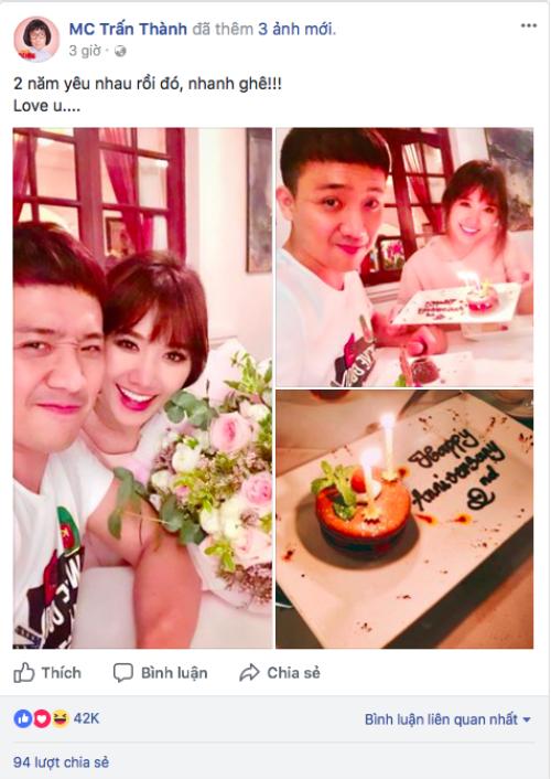 Kỷ niệm 730 ngày yêu nhau, đây là món quà đặc biệt Trấn Thành dành tặng Hari Won! - ảnh 1