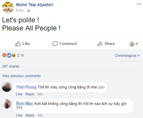 Tài khoản Facebook mang tên trọng tài bắt trận Qatar