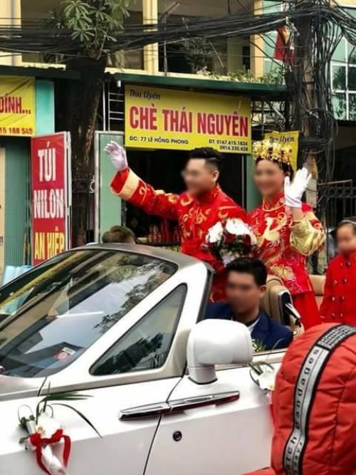 Xôn xao đám hỏi diễu hành bằng xe mui trần và hàng xe phân khối lớn hộ tống 1