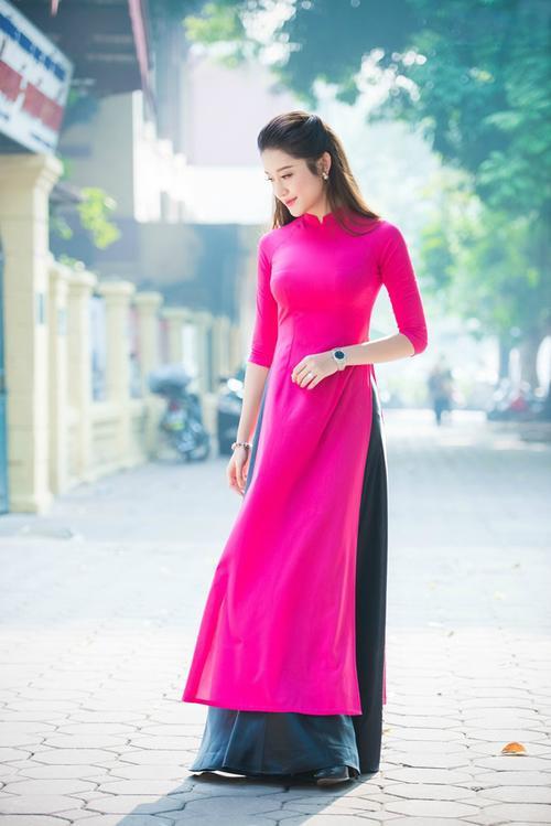 Đơn giản vẫn là đẹp nhất, Tết này chỉ cần diện áo dài một màu thì nguy cơ lẻ bóng chẳng còn! - ảnh 8