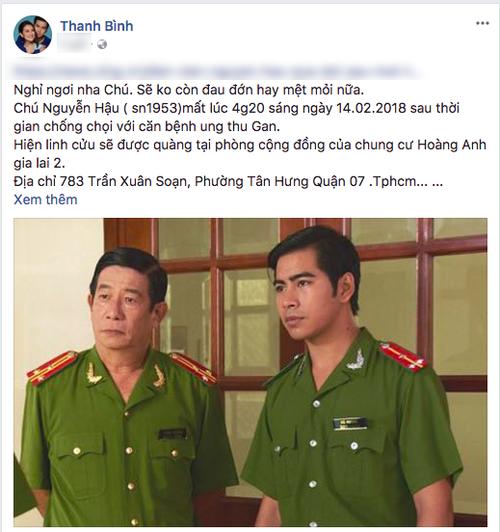 Sao Viet tiec thuong truoc su ra di cua dien vien Nguyen Hau