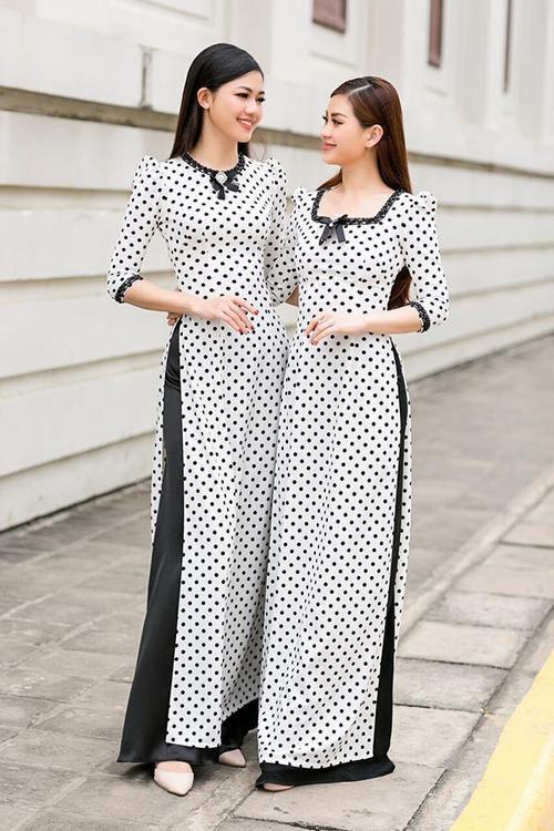 Nếu muốn diện áo dài mà không sợ bị chê già, cứ chọn họa tiết chấm bi là ổn ngay thôi!