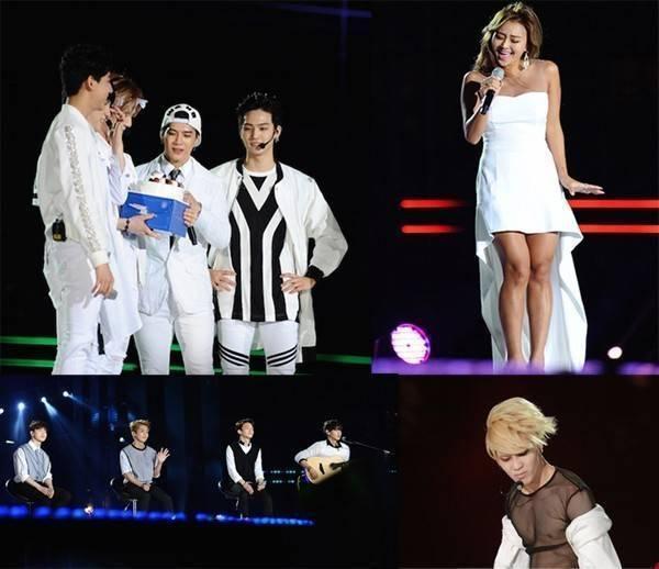 Hình ảnh GOT7 tặng bánh gato cho Jackson nhân ngày sinh nhật, Hyorin hát Hello Vietnam, EXO cover Người ấy, Taemin quyến rũ cởi áo trên sân khấu thực sự là những ấn tượng khó phai trong lòng người hâm mộ.