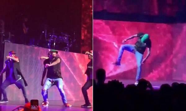 Chris Brown rách đũng quần trên sân khấu khi đang biểu diễn vào cuối tuần qua.