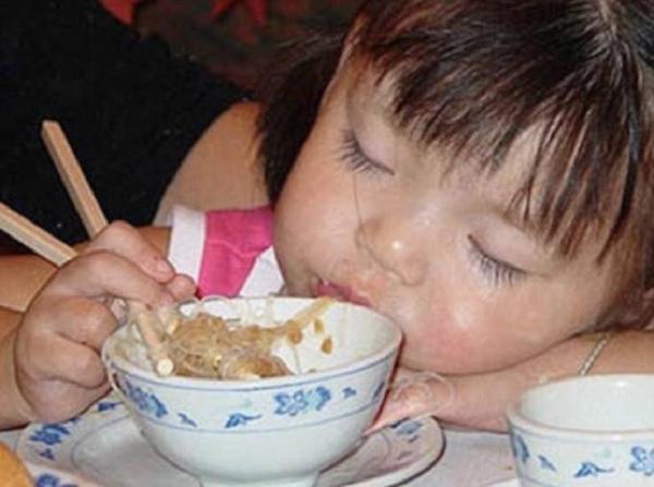 Thôi mệt quá, làm một giấc cái đã rồi dậy ăn tiếp. Khò khò...