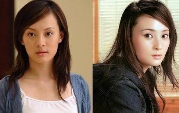 Tôn Lệ (trái) khi mới hoạt động thường bị so sánh với Thủy Linh. Lý do đơn giản là nữ diễn viên Chân Hoàn truyện rất giống đàn chị nổi tiếng trong Trời xanh đổ lệ.