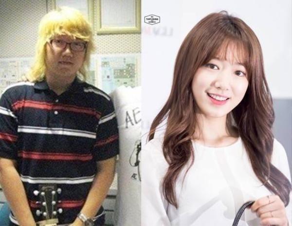 Ít ai nhận ra nhạc sĩ Park Shin Won là anh trai của Park Shin Hye bởi họ không có nét tương đồng trên gương mặt. Nữ diễn viên Người thừa kế sở hữu những nét khá hài hòa hơn người anh.