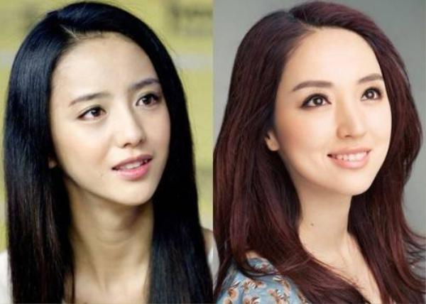 Đồng Lệ Á (trái) và Đổng Tuyền có gương mặt y tạc, độ giống nhau giữa họ là 80%.