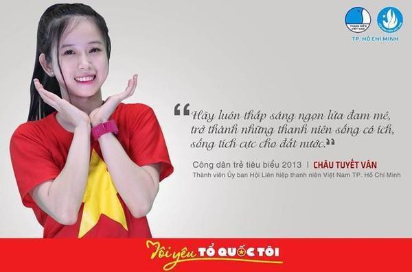 Công dân tiêu biểu Châu Tuyết Vân mong muốn mọi thanh niên Việt Nam đều sống có ích, tích cực với đất nước.