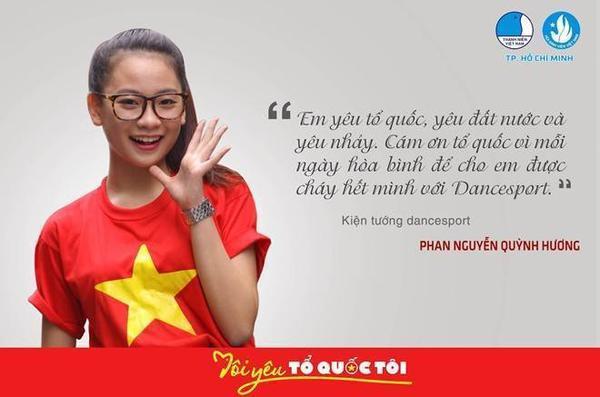 Kiện tướng dance sport - Phan Nguyễn Quỳnh Hương - bày tỏ lòng biết ơn đối với công lao to lớn của các anh hùng liệt sĩ, không quản thân mình đem lại cuộc sống hòa bình cho đất nước.
