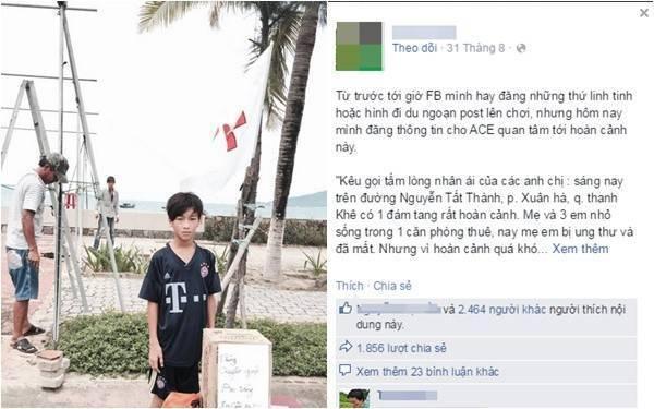 Câu chuyện được đăng tải trên facebook T.B khiến nhiều người rơi lệ - (Ảnh chụp màn hình).
