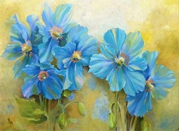 Ha - Blue Poppy - 60x80 - Thanh xu ly